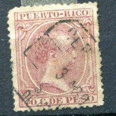 Sellos: EDIFIL 114 DE PUERTO RICO, MATASELLADO.. Lote 141509906