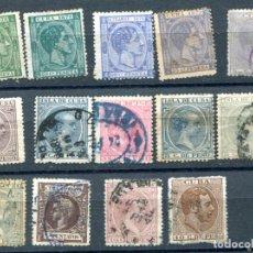 Sellos: 14 SELLOS DIFERENTES DE CUBA, SIGLO XIX. VER DESCRIPCIÓN. Lote 141511686