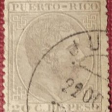 Sellos: PUERTO RICO. 1882-84, ALFONSO XII. 20 CTS. GRIS (Nº 68 EDIFIL).. Lote 142822898
