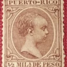 Sellos: PUERTO RICO. 1896-97, ALFONSO XIII. ½ MLA. VIOLETA NEGRUZCO (Nº 115 EDIFIL).. Lote 142823510
