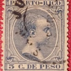 Sellos: PUERTO RICO. 1890, ALFONSO XIII. 3 CTS. AZUL OSCURO (Nº 79 EDIFIL).. Lote 142823870