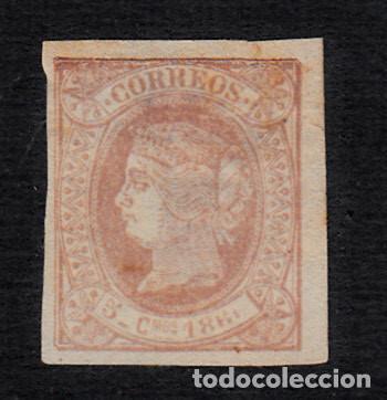 CUBA - 1866 ISABEL II NUM. 13 10 CTMS CON FIJASELLOS SIN GOMA (Sellos - España - Colonias Españolas y Dependencias - América - Cuba)