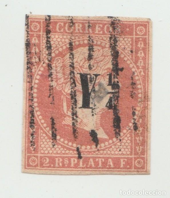 ANTILLAS. 2 R. ROJO. EDIFIL Nº 9. RESELLO Y 1/4. (Sellos - España - Colonias Españolas y Dependencias - América - Antillas)