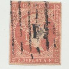 Sellos: ANTILLAS. 2 R. ROJO. EDIFIL Nº 9. RESELLO Y 1/4. . Lote 60842783