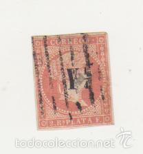 Sellos: Antillas. 2 r. rojo. Edifil nº 9. Resello Y 1/4. - Foto 2 - 60842783
