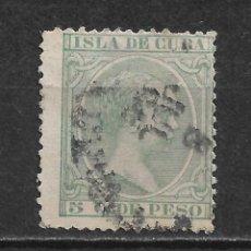 Sellos: ESPAÑA CUBA 1891 EDIFIL 127 USADO - 12/11. Lote 145204090