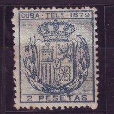 Sellos: CUBA TELÉGRAFOS 1879 ALFONSO XII, EDIFIL Nº 46/48 NUEVOS VC 30 EUROS. Lote 147721046
