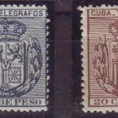 Sellos: AÑO 1896. CUBA TELÉGRAFOS 81/84**MNH VC 48 EUROS. Lote 147727210