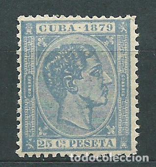 CUBA SUELTOS 1879 EDIFIL 53 * MH (Sellos - España - Colonias Españolas y Dependencias - América - Cuba)