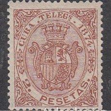 Sellos: CUBA SUELTOS TELEGRAFOS EDIFIL 30 * MH. Lote 151113581
