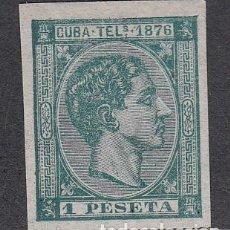 Sellos: CUBA SUELTOS TELEGRAFOS EDIFIL 35S * MH. Lote 151113605