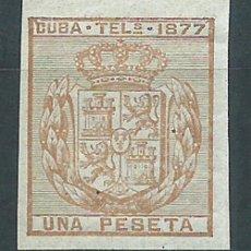 Sellos: CUBA SUELTOS TELEGRAFOS EDIFIL 39S ** MNH. Lote 151113613