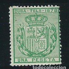 Sellos: CUBA SUELTOS TELEGRAFOS EDIFIL 43 (*) MNG. Lote 151113617