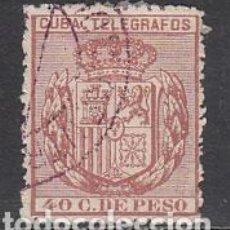 Sellos: CUBA SUELTOS TELEGRAFOS EDIFIL 80 O. Lote 151113904