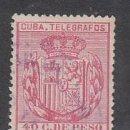 Sellos: CUBA SUELTOS TELEGRAFOS EDIFIL 84 O. Lote 151113908