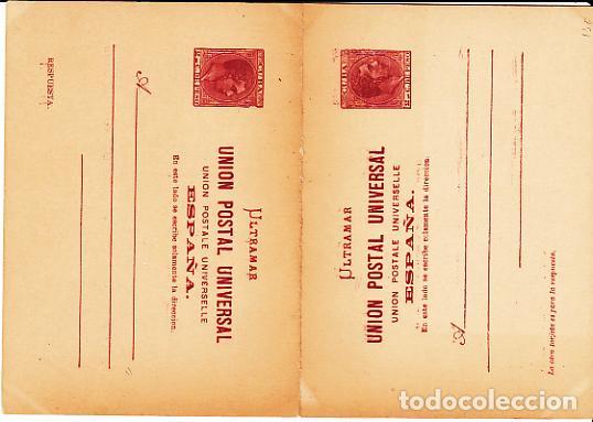 CUBA ENTEROS POSTALES 1882 EDIFIL 13E (*) MNG (Sellos - España - Colonias Españolas y Dependencias - América - Cuba)