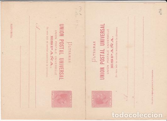 CUBA ENTEROS POSTALES 1882 EDIFIL 14 (*) MNG (Sellos - España - Colonias Españolas y Dependencias - América - Cuba)