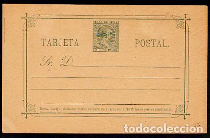 CUBA ENTEROS POSTALES 1888 EDIFIL 25 (*) MNG (Sellos - España - Colonias Españolas y Dependencias - América - Cuba)