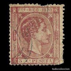 Sellos: PUERTO RICO.1879.SELLOS DE CUBA.5C.MARQUILLA.USADO.EDIFIL 23. Lote 153327758