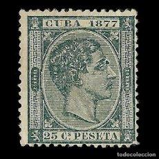 Sellos: SELLOS ESPAÑA. COLONIAS ESPAÑOLAS.CUBA 1877. ALFONSO XII. 25 C. VERDE. NUEVO. EDIFIL. Nº 41. Lote 153516678