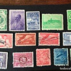 Sellos: CUBA CONJUNTO DIVERSOS USADOS. Lote 154846394
