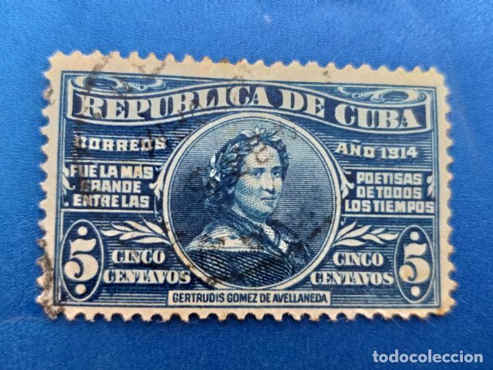 SELLO DE CUBA. AÑO 1914. AEREO. Nº 174 GERTRUDIS GOMEZ DE AVELLANEDA. MATASELLO. (Sellos - España - Colonias Españolas y Dependencias - América - Cuba)