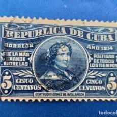 Sellos: SELLO DE CUBA. AÑO 1914. AEREO. Nº 174 GERTRUDIS GOMEZ DE AVELLANEDA. MATASELLO. . Lote 156014414