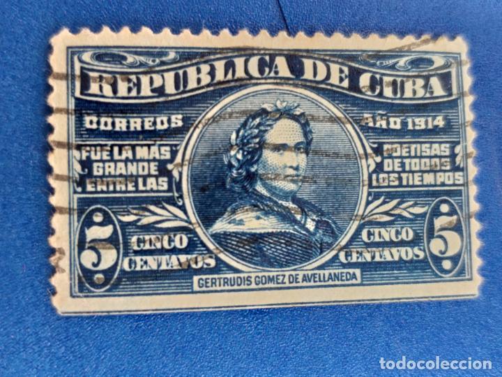SELLO DE CUBA. AÑO 1914. AEREO. Nº 174 GERTRUDIS GOMEZ DE AVELLANEDA. (Sellos - España - Colonias Españolas y Dependencias - América - Cuba)