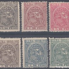Sellos: TMO-50 CUBA 1898 TIMBRE MOVIL REVENUE STAMPS LOT UNUSED. Lote 156790930
