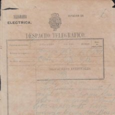 Sellos: TELEG-238 CUBA SPAIN ESPAÑA. LG-1310. TELEGRAPH TELEGRAM TELEGRAMA CIRCA 1880.. Lote 156791465