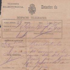 Sellos: TELEG-239 CUBA SPAIN ESPAÑA. LG-1311. TELEGRAPH TELEGRAM TELEGRAMA CIRCA 1880.. Lote 156791469
