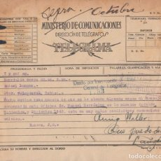Sellos: TELEG-241 CUBA LG-1313. TELEGRAPH TELEGRAM TELEGRAMA 1944. MARCA DMDO INTERRUPCION DE LINEA.. Lote 156791477