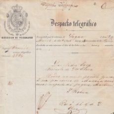 Sellos: TELEG-262 CUBA (LG1496) SPAIN ANT. TELEGRAM 1861. TIPO II TELEGRAPH. MODELO DE TELEGRAMA.. Lote 156791581