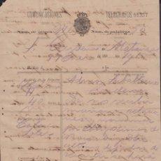 Sellos: TELEG-266 CUBA (LG1499) SPAIN ANT. TELEGRAM 1880 TIPO VII TELEGRAPH MODELO DE TELEGRAMA. Lote 156791593
