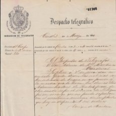 Sellos: TELEG-271 CUBA (LG1504) SPAIN ANT. TELEGRAM 1877 TIPO XII TELEGRAPH MODELO DE TELEGRAMA. Lote 156791613