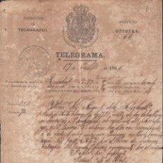 Sellos: TELEG-275 CUBA (LG1508) SPAIN ANT. TELEGRAM 1866 TIPO XIV TELEGRAPH MODELO DE TELEGRAMA. Lote 156791701