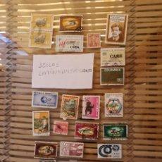 Sellos: LOTE DE SELLOS ANTIGUOS DE PAÍSES LATINOAMERICANOS,NO SE DESCOMPLETA EL LOTE . Lote 158665306