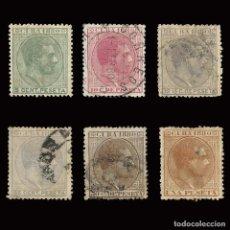 Sellos: SELLOS ESPAÑA.CUBA 1880 ALFONSO XII. SERIE COMPLETA. USADO. EDIFIL Nº 56-61.. Lote 160436022