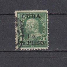 Sellos: CUBA 1899.SELLO DE ESTADOS UNIDOS 1 CENT.SOBRECARGADO CUBA 1 C.DE PESO.YVERT 139.USADO.. Lote 161292298
