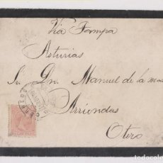 Sellos: SOBRE. HABANA, CUBA. 1893. A ASTURIAS. VÍA TAMPA. Lote 161840626