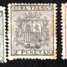 Sellos: CUBA TELEGRAFOS NUMS 32 A 34 SIN GOMA Y CON FIJASELLOS . Lote 164953374