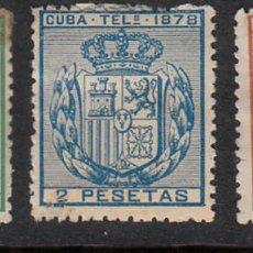 Sellos: CUBA TELEGRAFOS NUMS 43 A 45 SIN GOMA Y CON FIJASELLOS . Lote 164954358