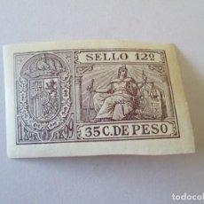 Sellos: CUBA * SELLO 12º 1898-99 * 35 C DE PESO . Lote 165859086