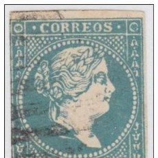 Sellos: 1857-55. CUBA. SPAIN. ESPAÑA. ISABEL II. 1857. FALSO POSTAL. POSTAL FORGERY. GRAUS. TIPO III. COLOR. Lote 165963473