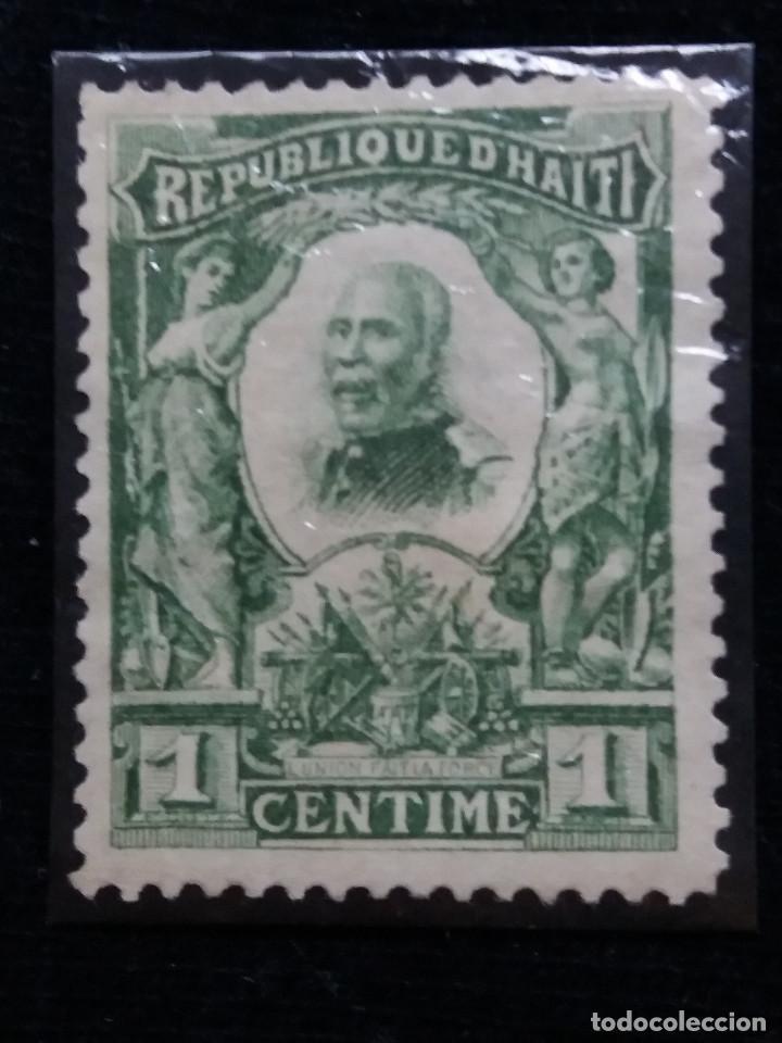 SELLO, REPUBLICA HAITI, 1 CENTIMO, AÑO 1904, (Sellos - España - Colonias Españolas y Dependencias - América - Otros)