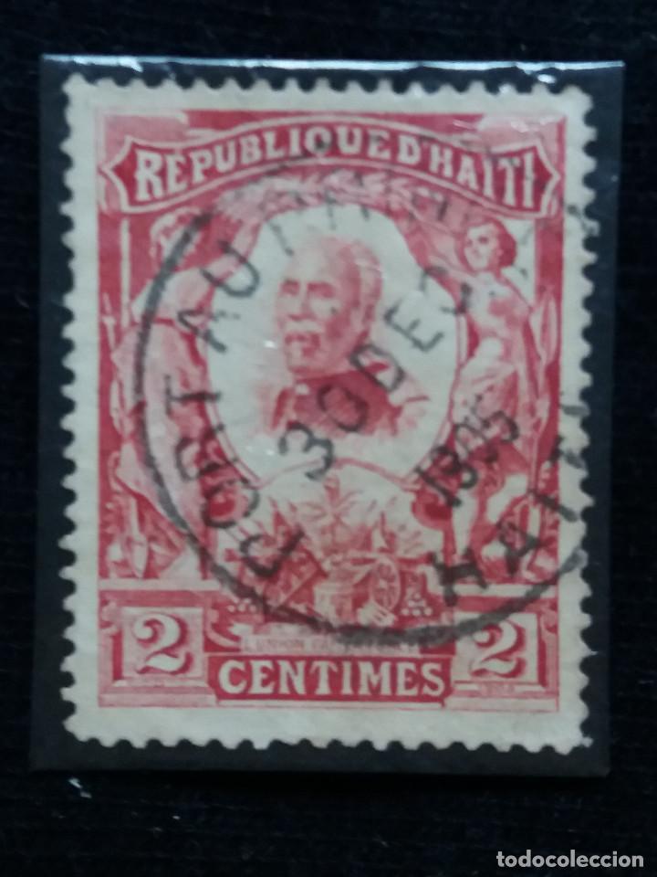 SELLO, REPUBLICA HAITI, 2 CENTIMO, AÑO 1904, (Sellos - España - Colonias Españolas y Dependencias - América - Otros)