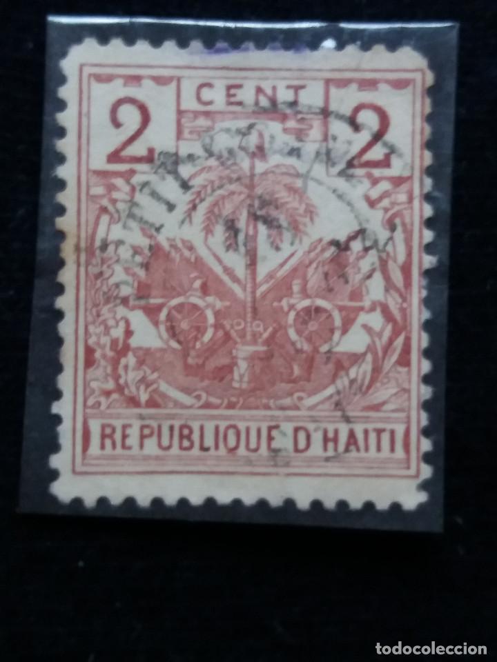 SELLO, REPUBLICA HAITI, 2 CENTIMO, AÑO 1896, (Sellos - España - Colonias Españolas y Dependencias - América - Otros)