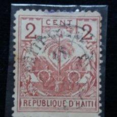 Sellos: SELLO, REPUBLICA HAITI, 2 CENTIMO, AÑO 1896,. Lote 168216616