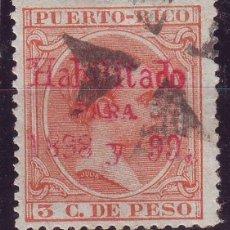 Sellos: AÑO 1898.PUERTO RICO 166 E HABILITADO. BONITO MATASELLOS. MUY RARO. SIN DEFECTOS. Lote 170168908