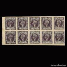 Sellos: SELLOS ESPAÑA. PUERTO RICO. 1898 ALFONSO XIII.1CT.VIOLETA NEGRO.SD. BLOQUE 10. NUEVO**. EDIF.135. Lote 171809217